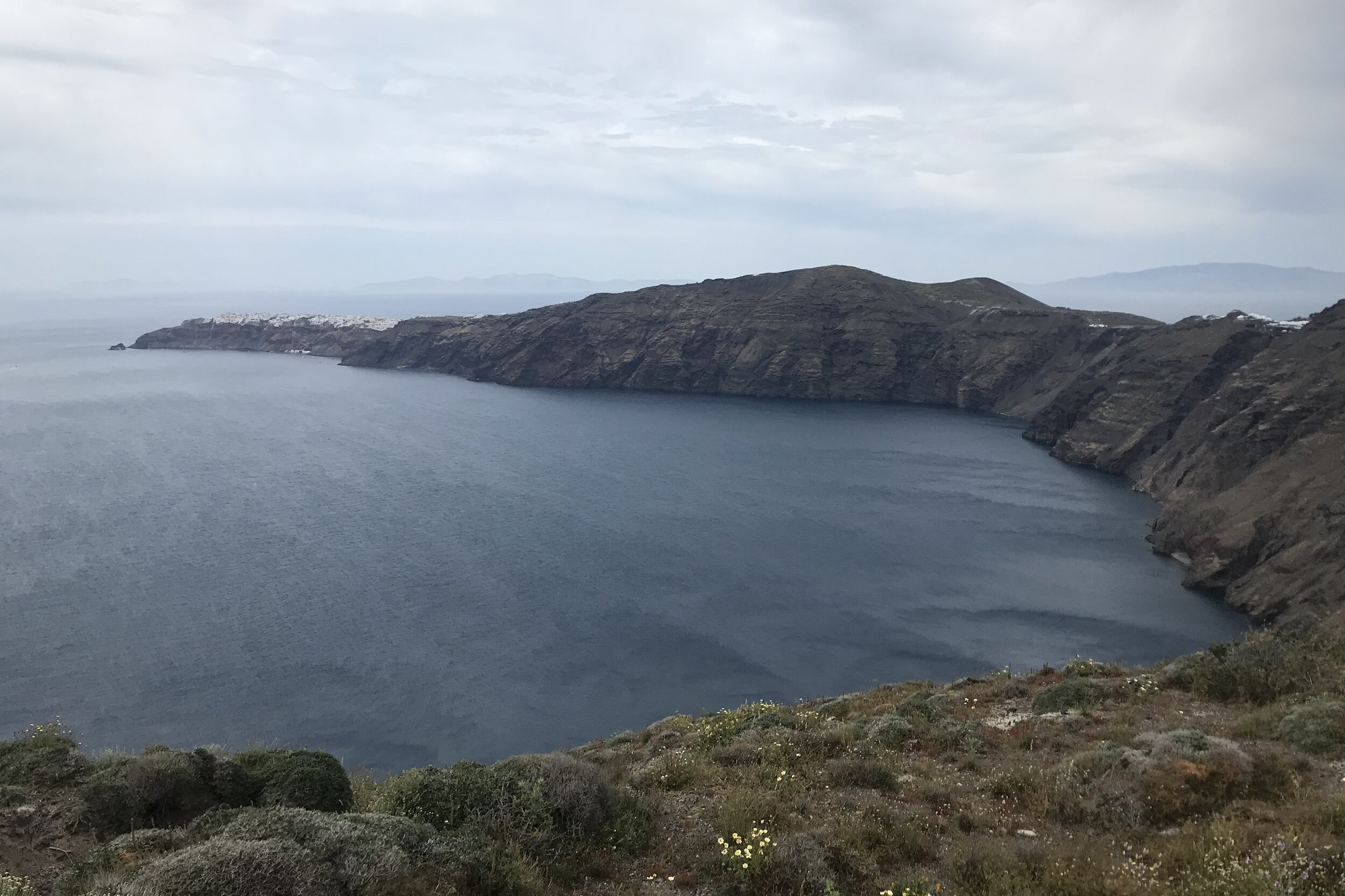 Views along the hiking trail from Fira to Oia