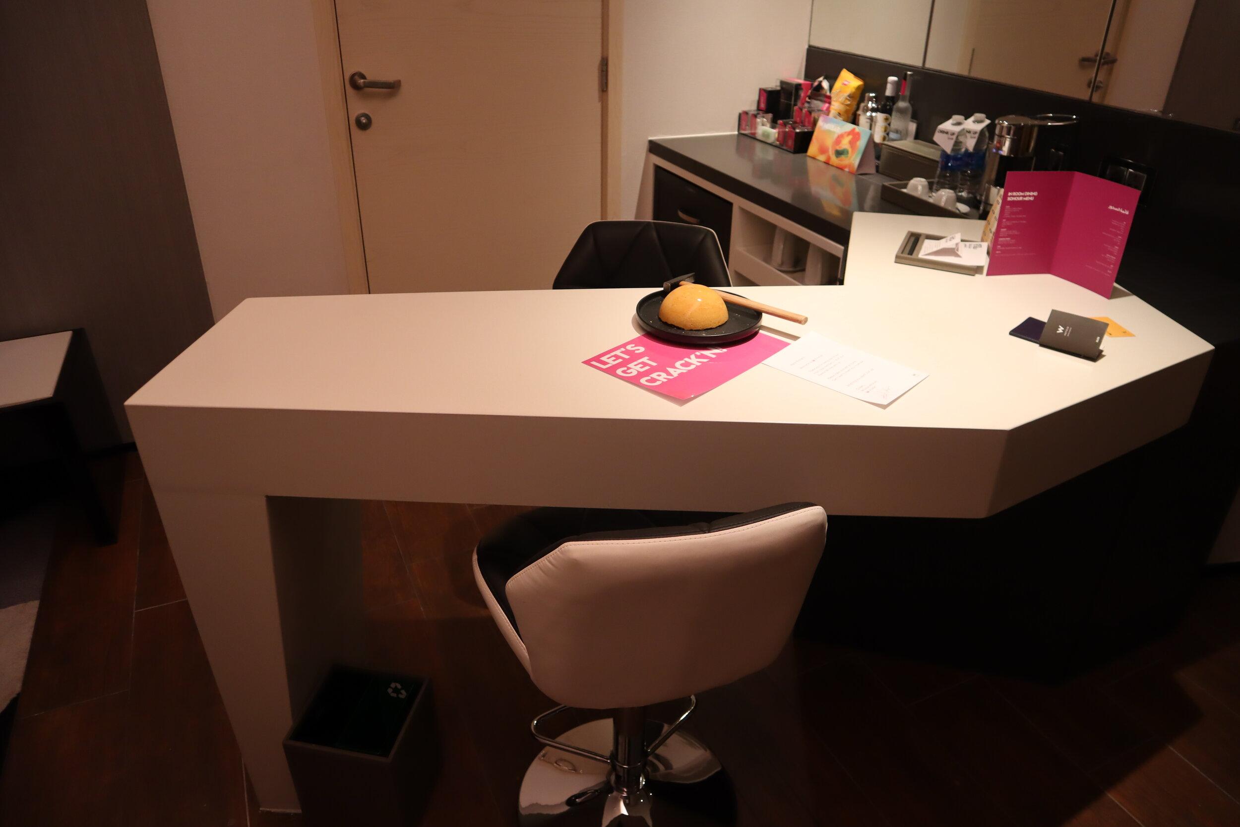 W Amman – Cool Corner Suite countertop