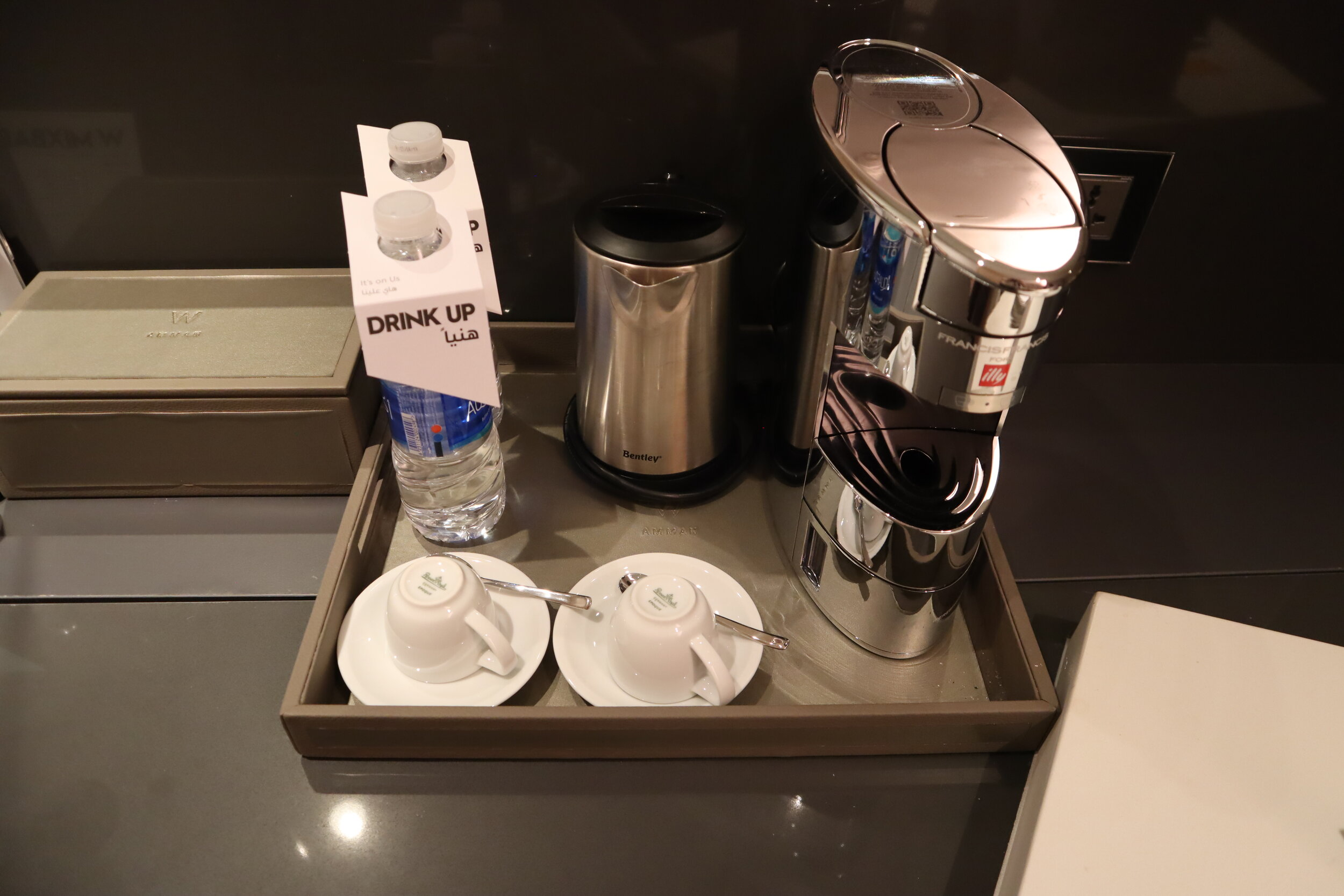 W Amman – Cool Corner Suite coffee & tea set