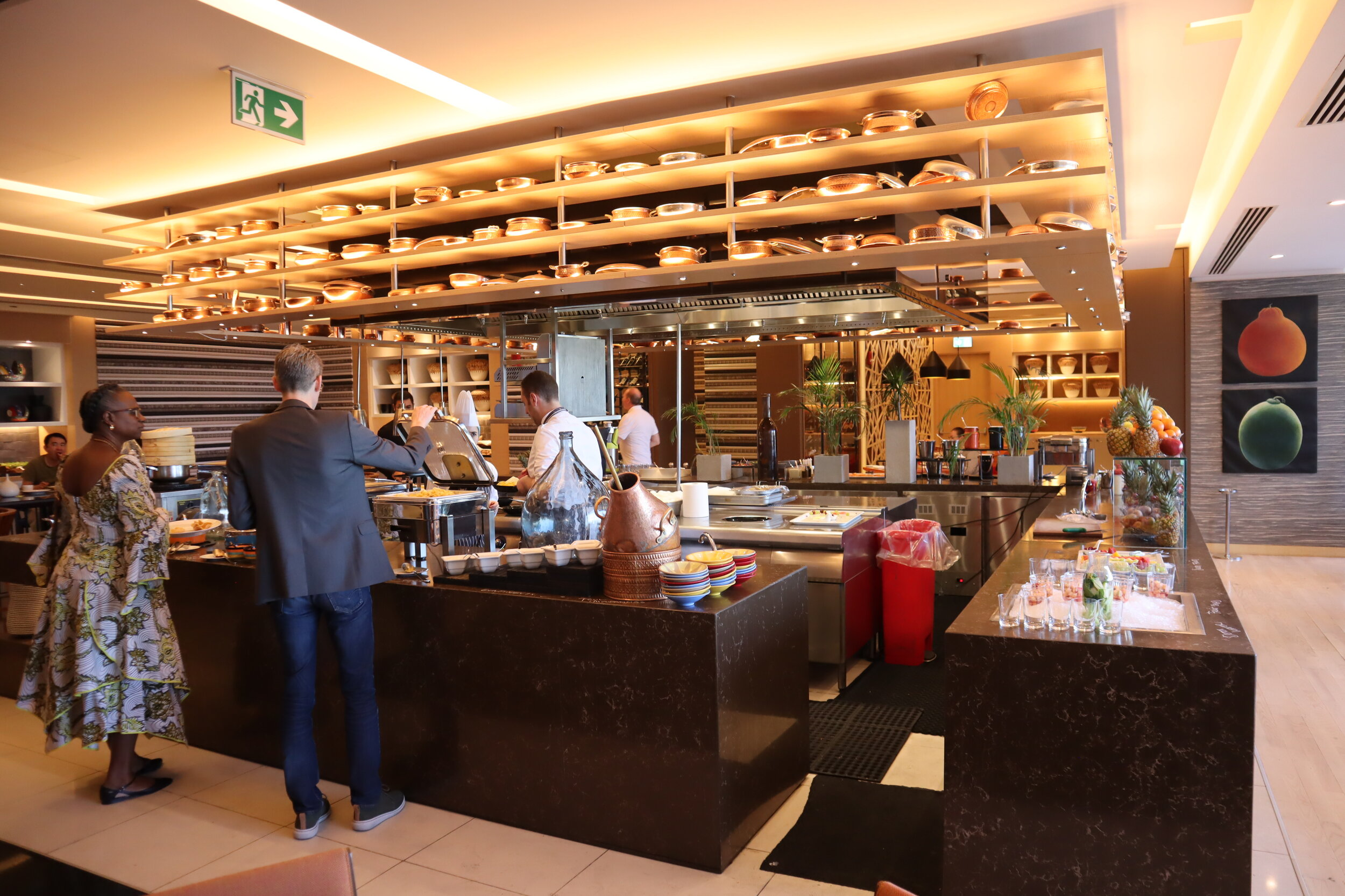 W Amman – Breakfast spread