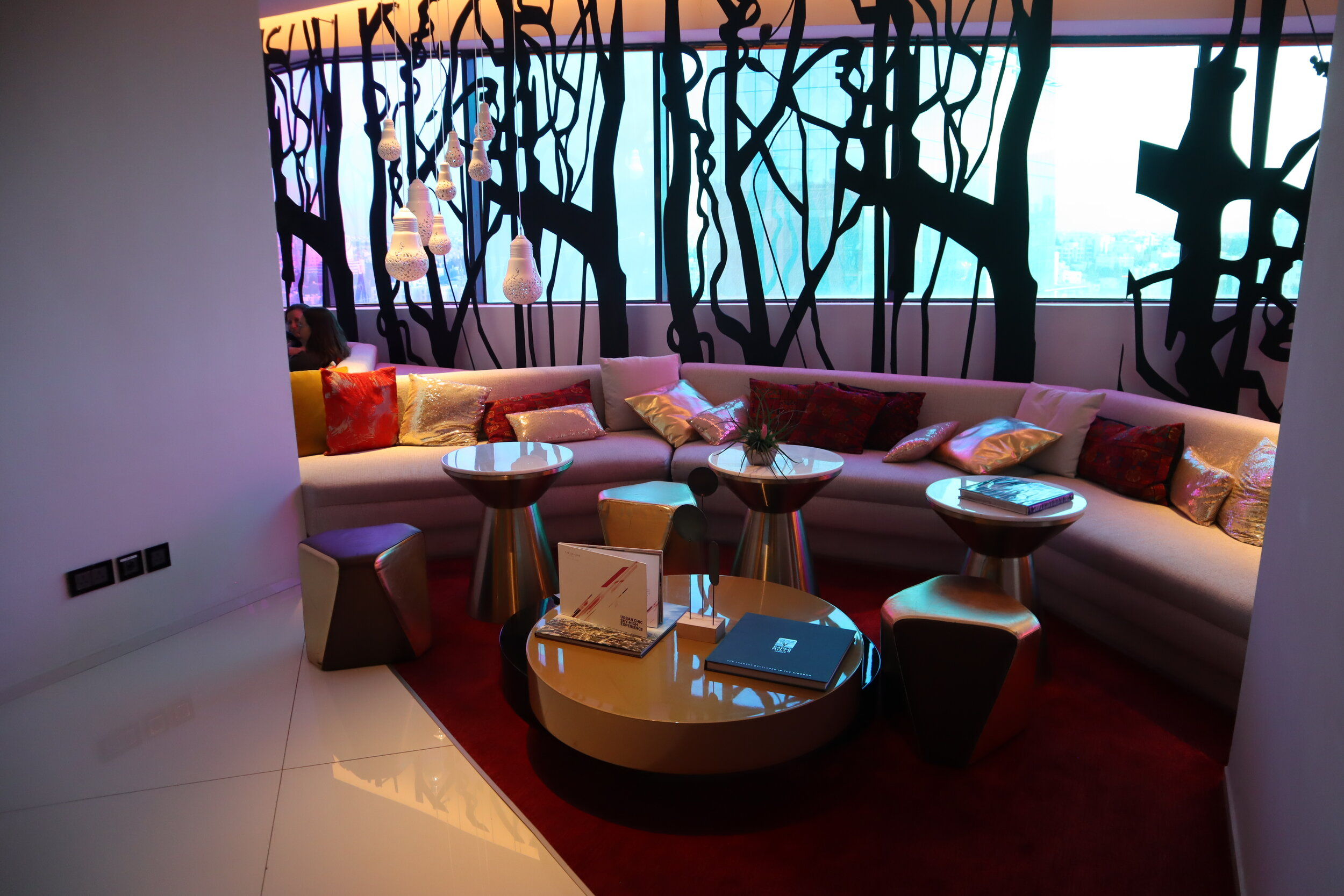 W Amman – Living Room seating area