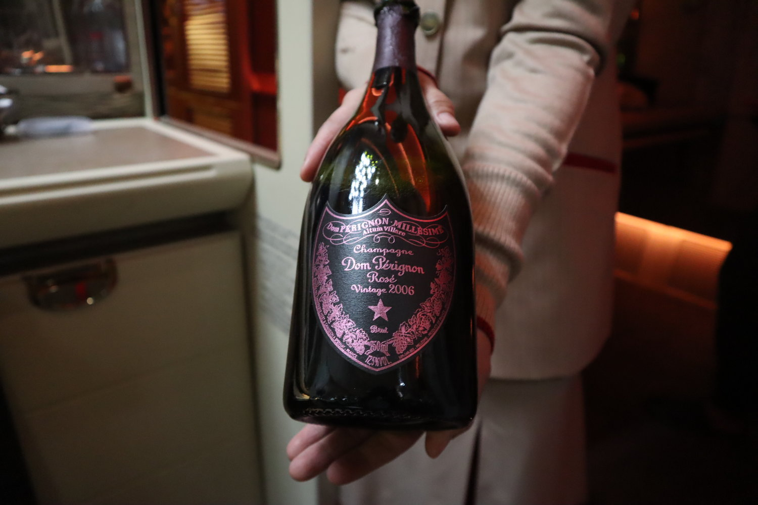 Dom Perignon Rosé 2006 on Emirates First Class