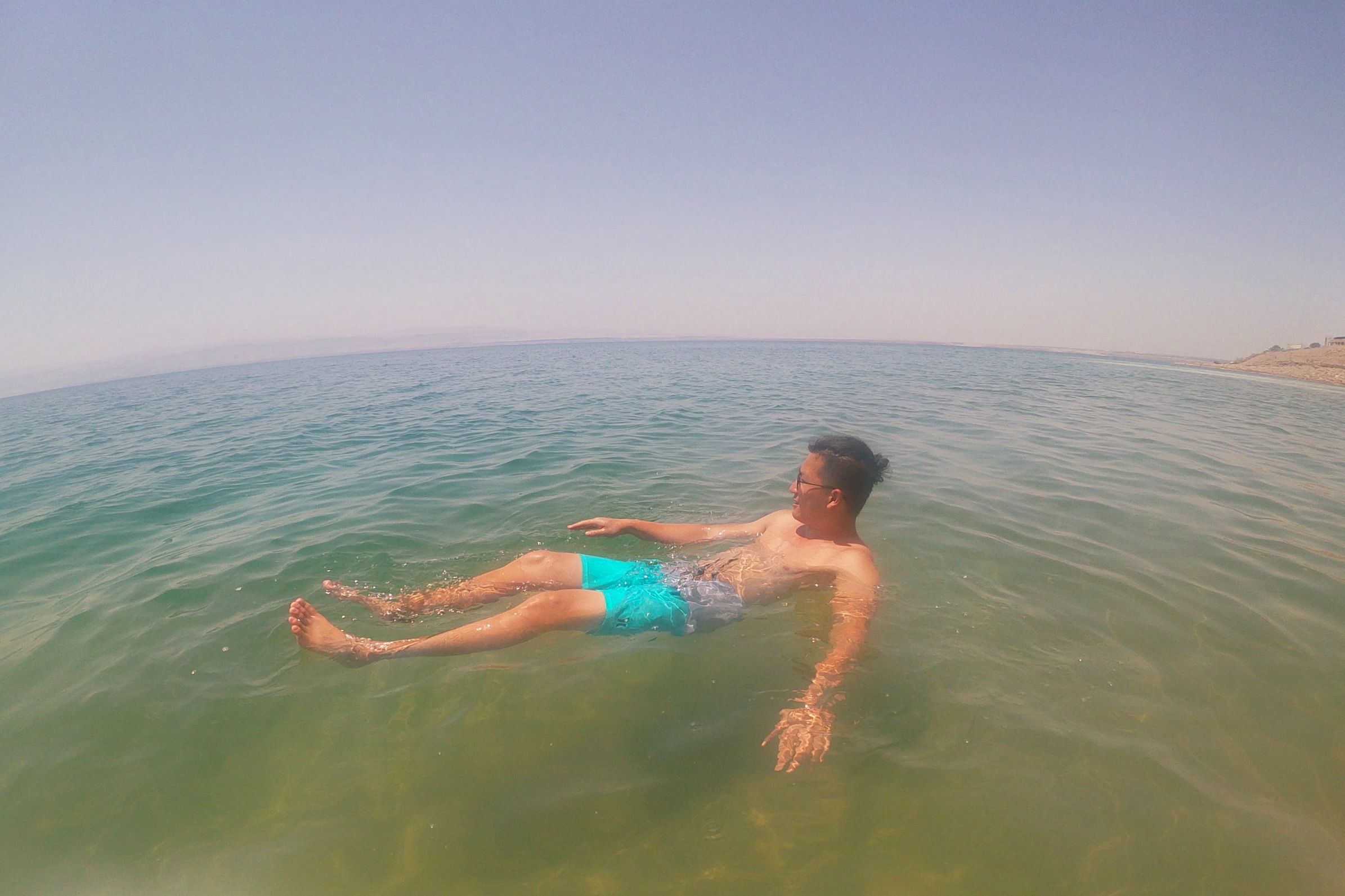 Floating on the Dead Sea!