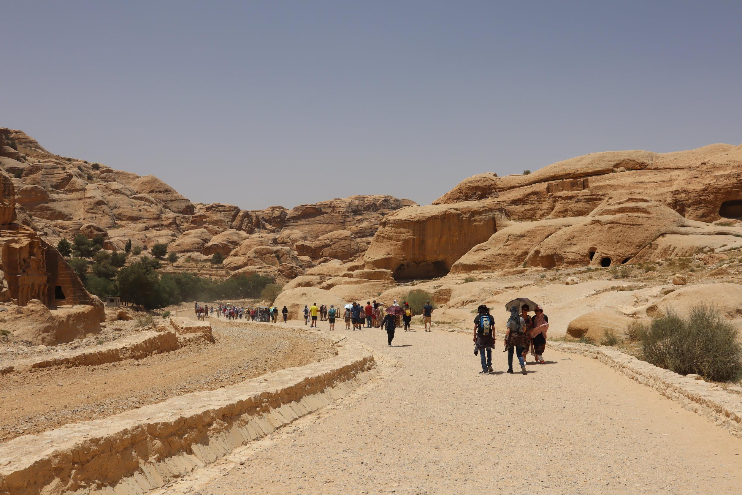 Petra, Jordan – Walking trail to the Siq