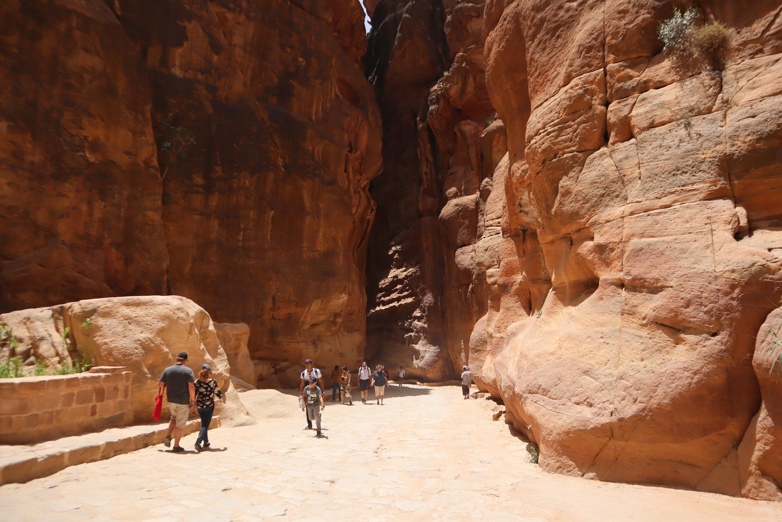 Petra, Jordan – Entrance to the Siq
