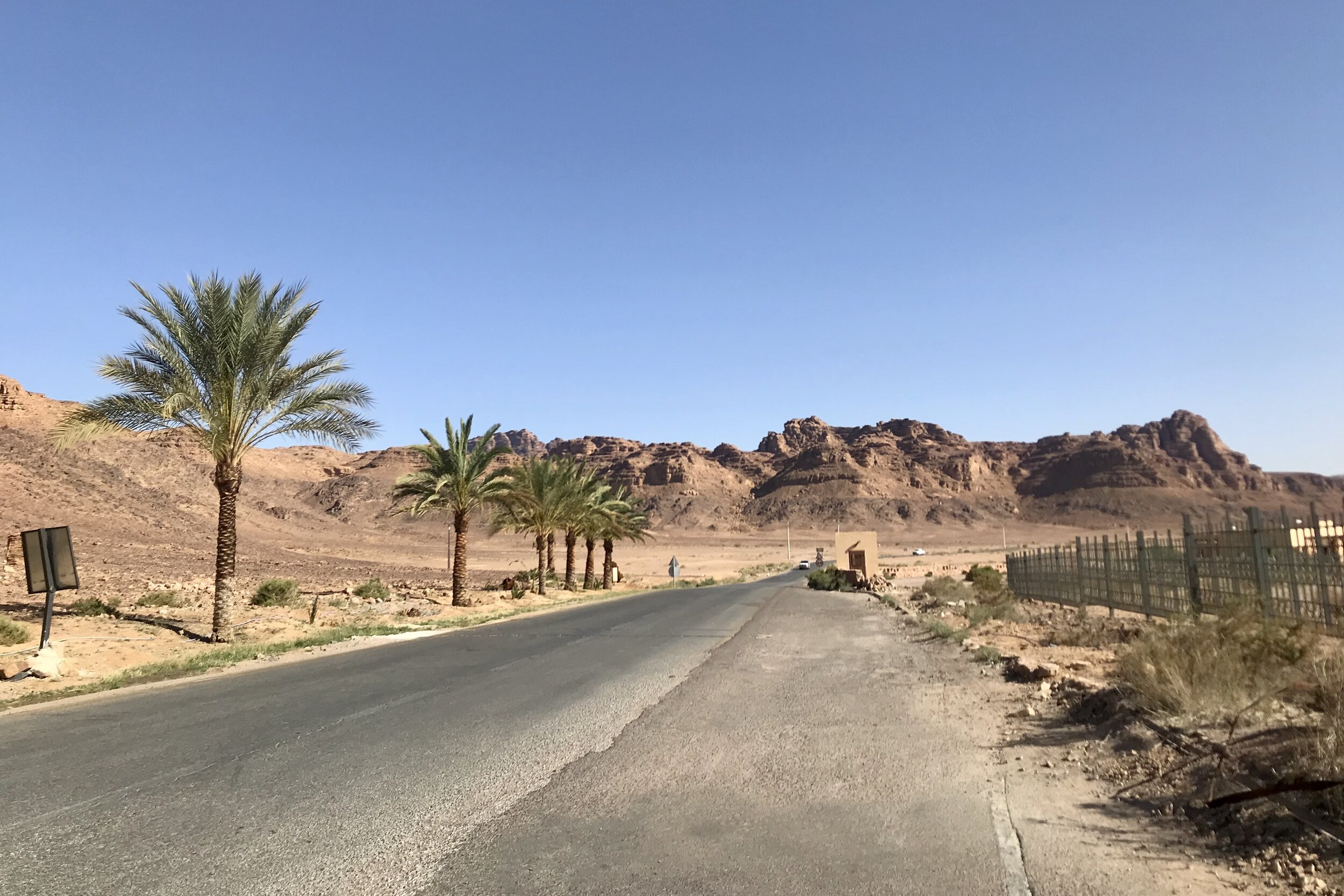 Driving to Wadi Rum