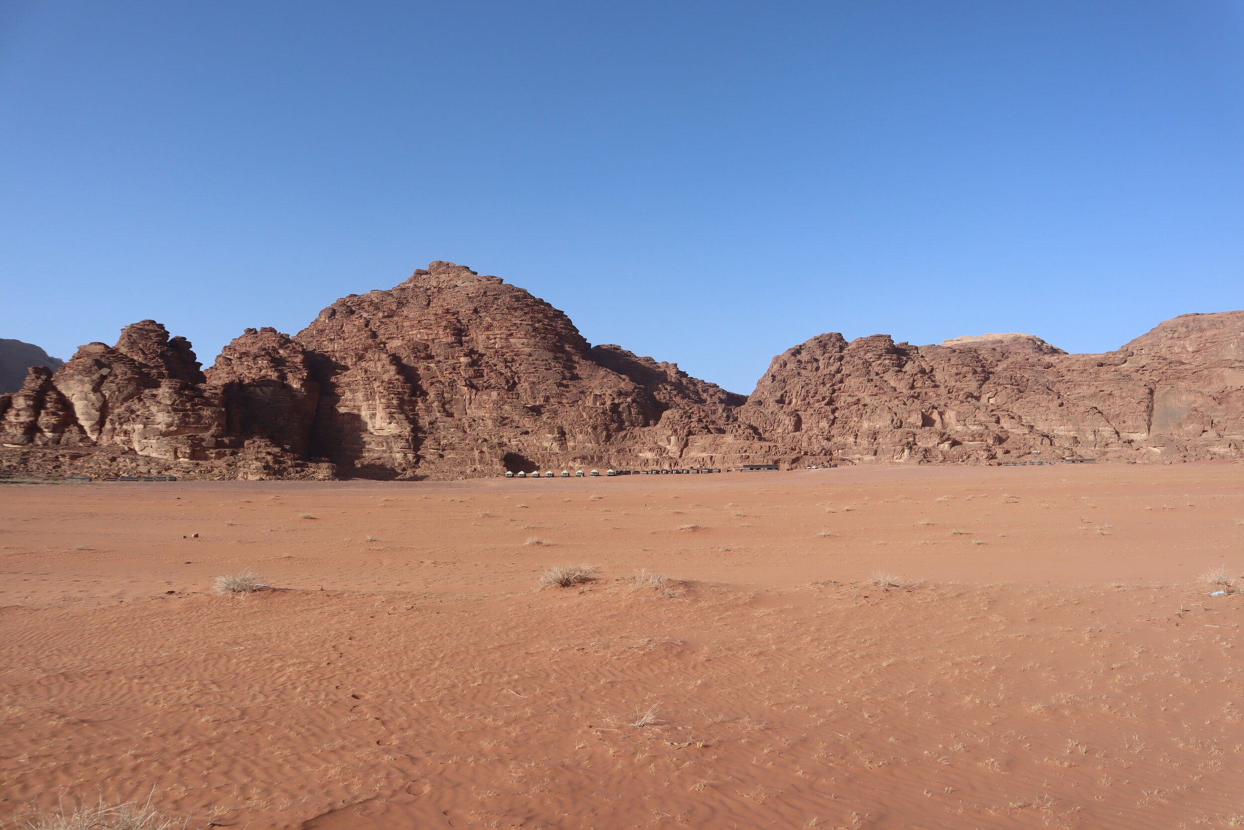 Wadi Rum Bedouin Camp from afar