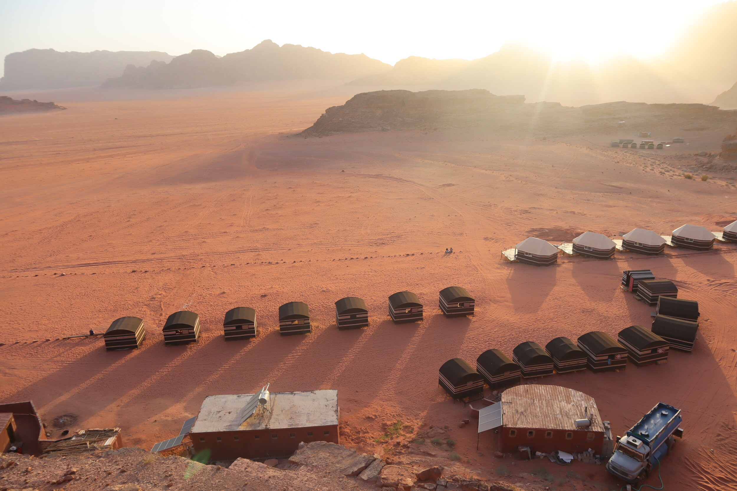 Wadi Rum Bedouin Camp sunset view