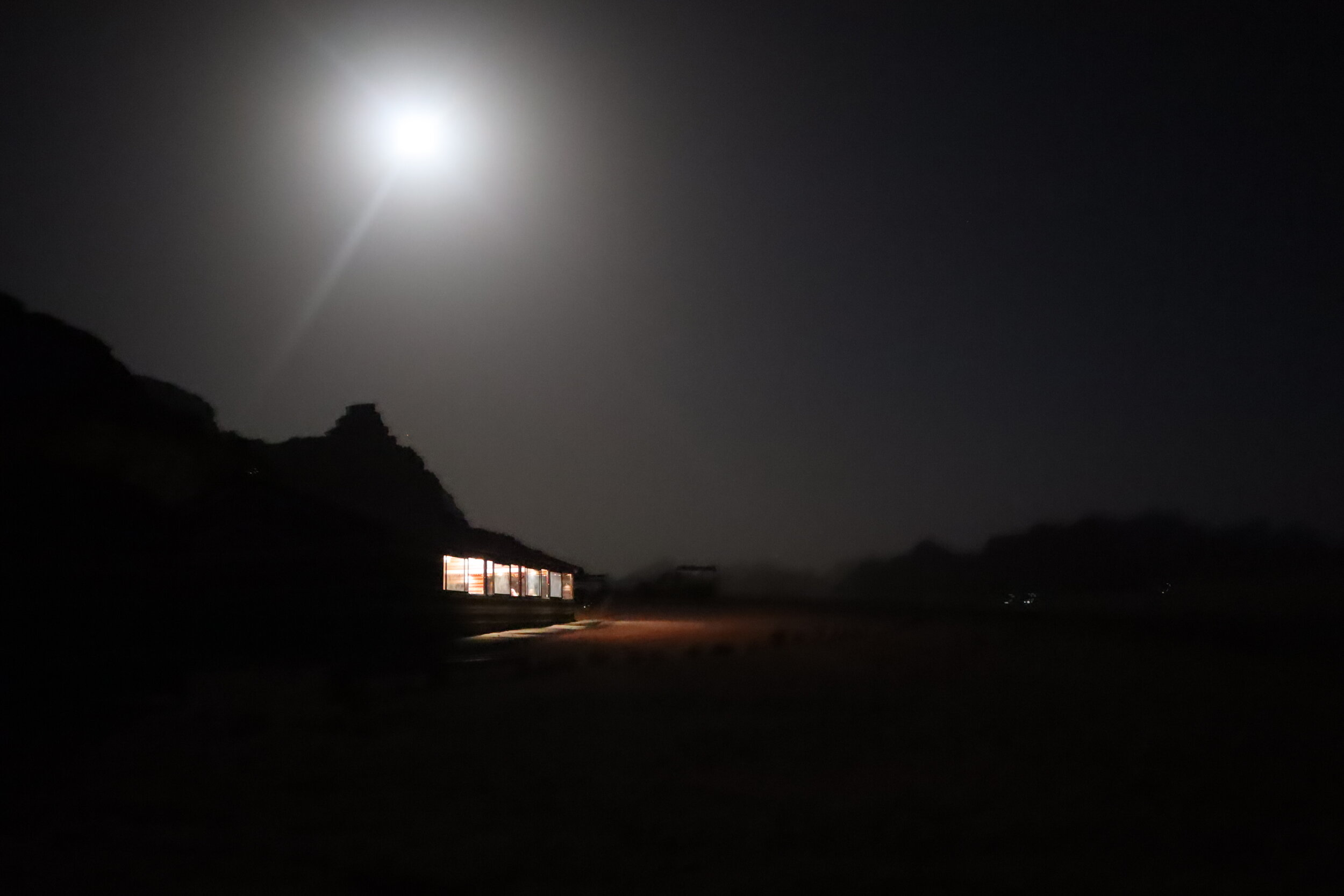 Wadi Rum Bedouin Camp by night