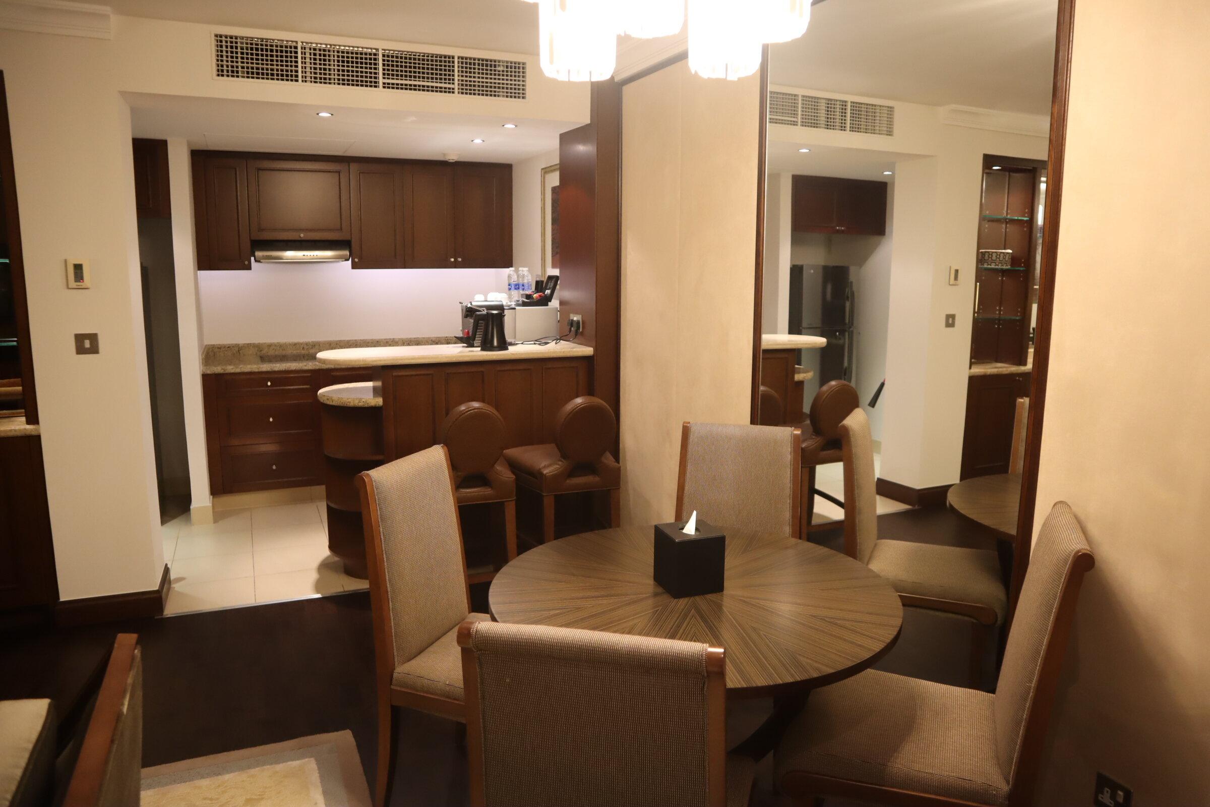 Sheraton Oman – Studio Suite dining area