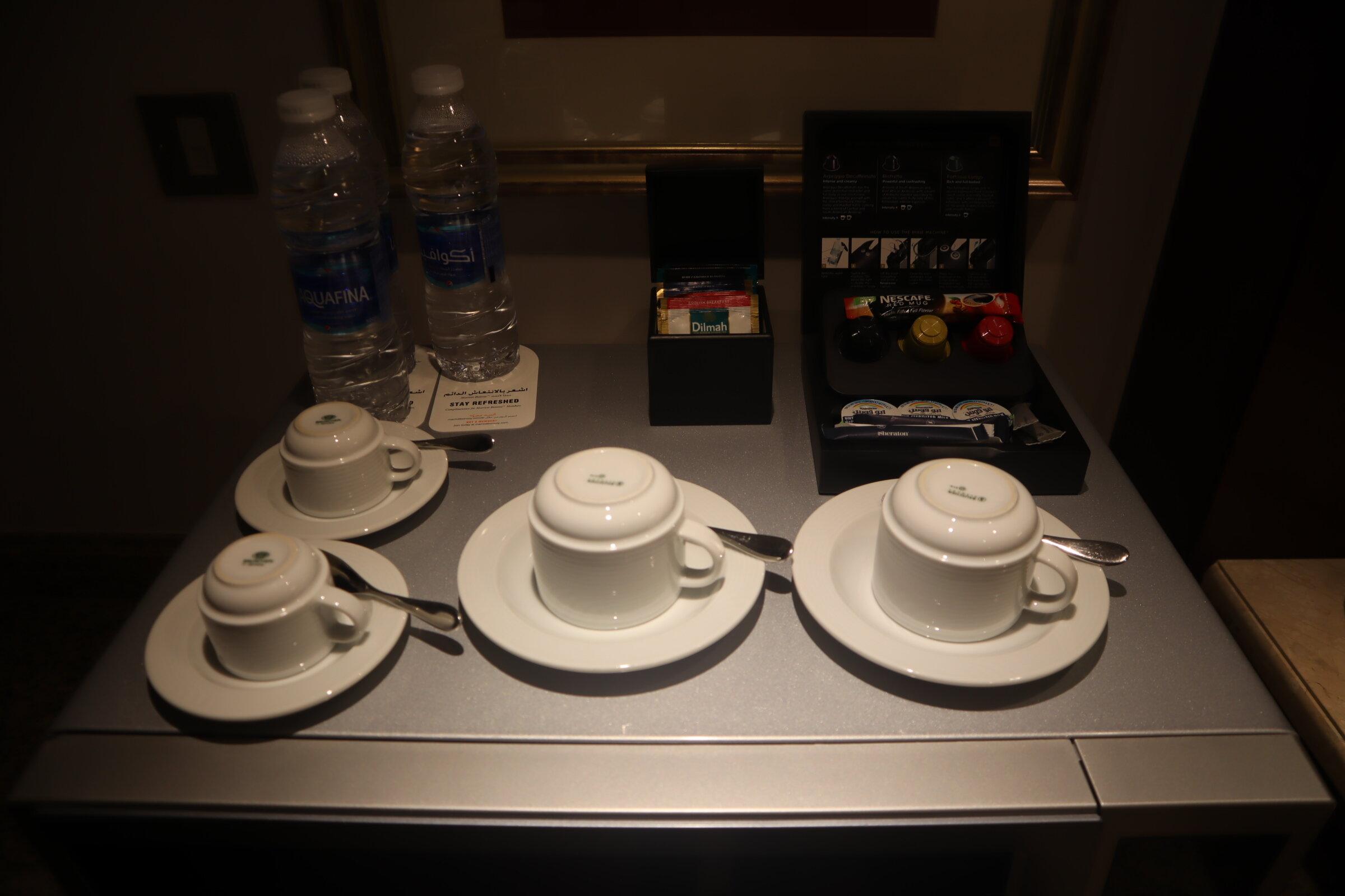 Sheraton Oman – Studio Suite coffee & tea kit