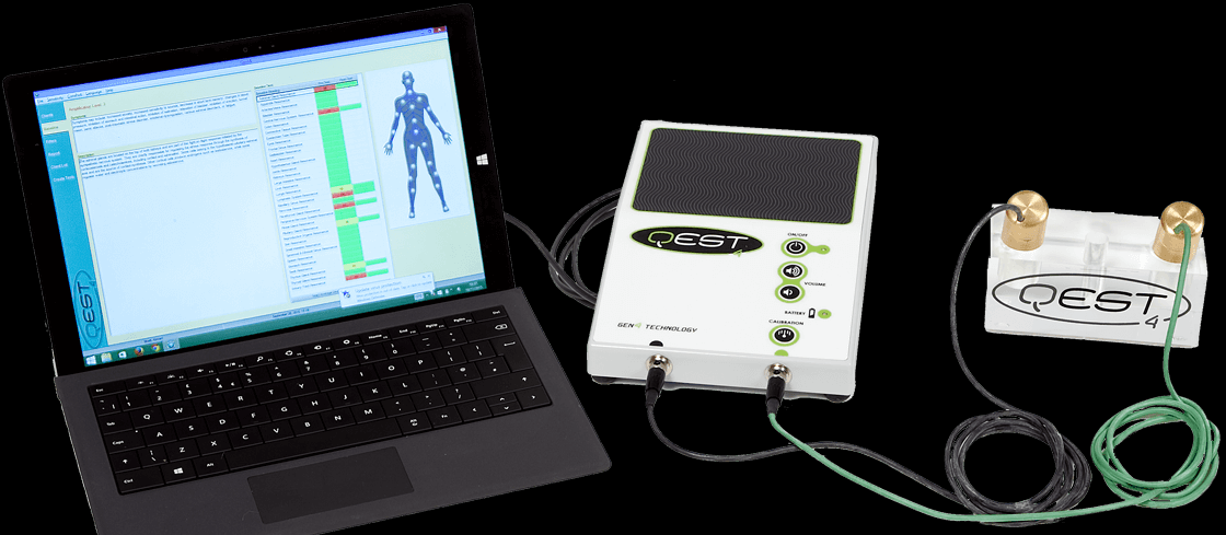 Qest 4 - The Qest 4 System has a broad range of abilities. It is an economical, non-invasive way to evaluate numerous factors related to your health, Including nutritional imbalances, organ stress, allergies, hormonal imbalance, structural misalignments, sensitivities and many other problems at the root of health issues.