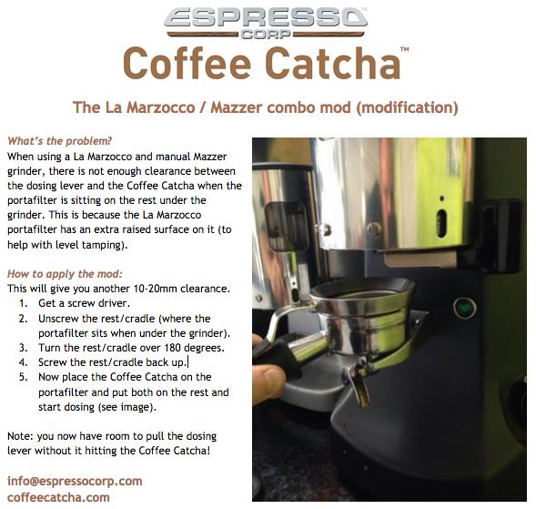 Coffee Catcha with La Marzocco & Mazzer