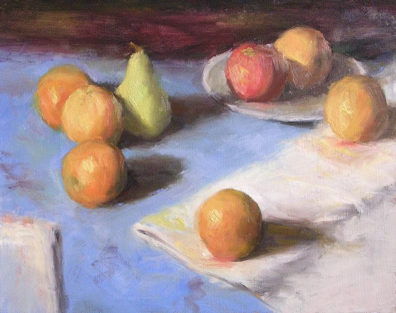 Arrangement with Oranges, 16 x 20 oil