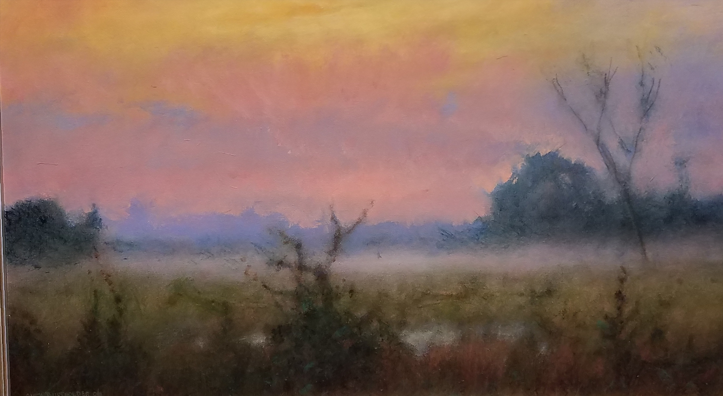 West from Pennington 14 x 24  acrylic