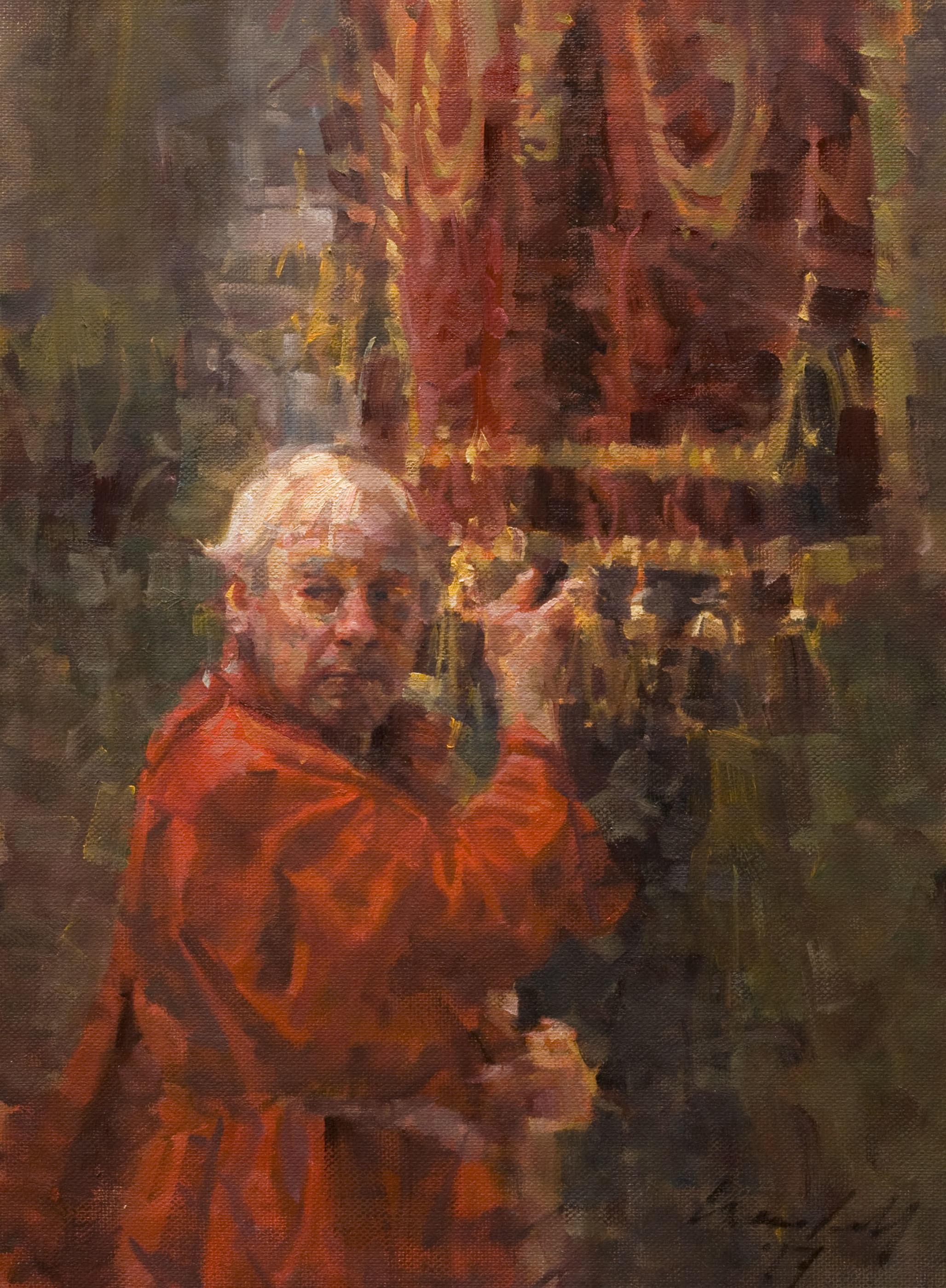 """STANDARD BEARER Oil on Linen  mounted on Panel 16"""" x 12"""""""