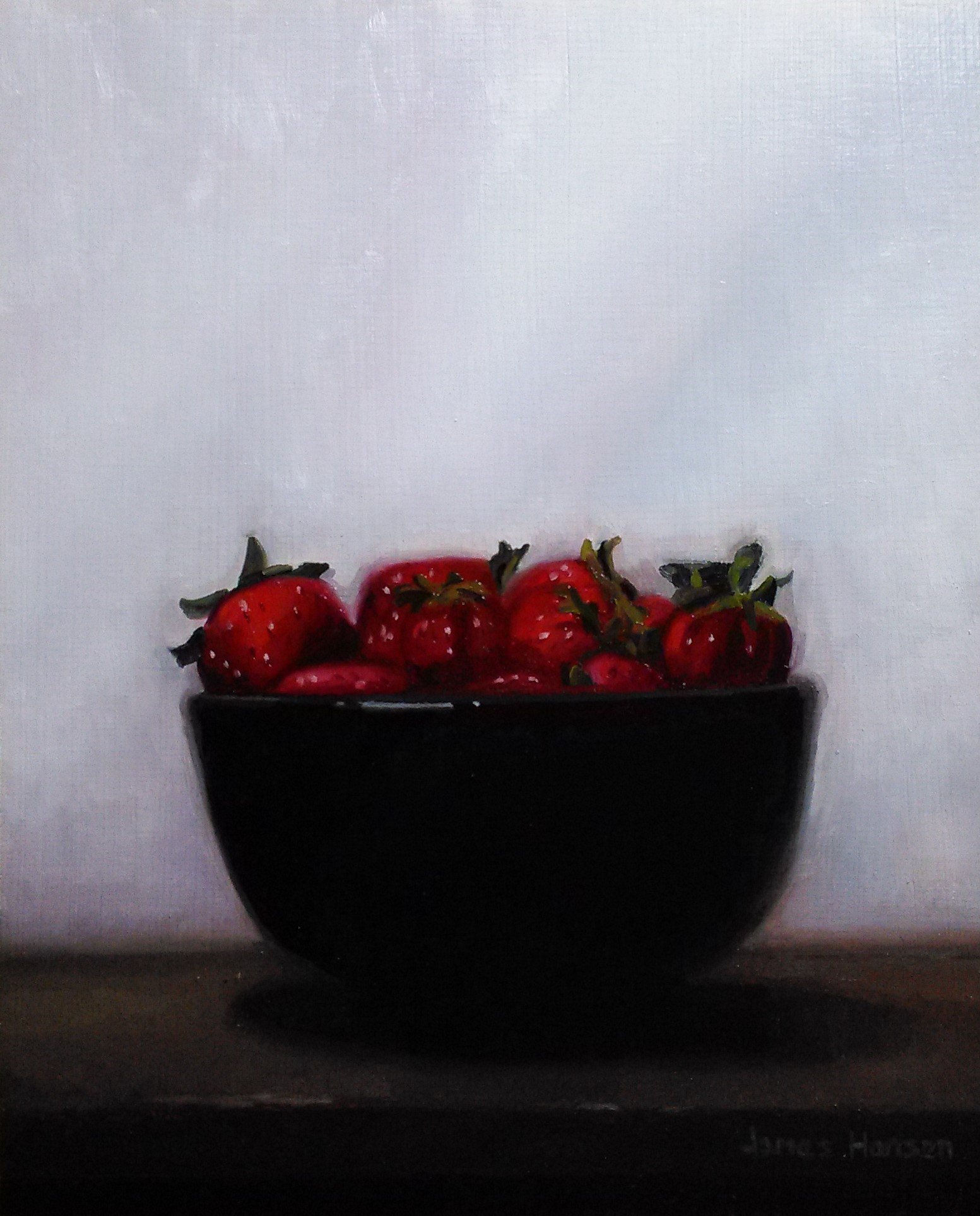 "A Mountain of Strawberries - Oil  10"" x 8"""