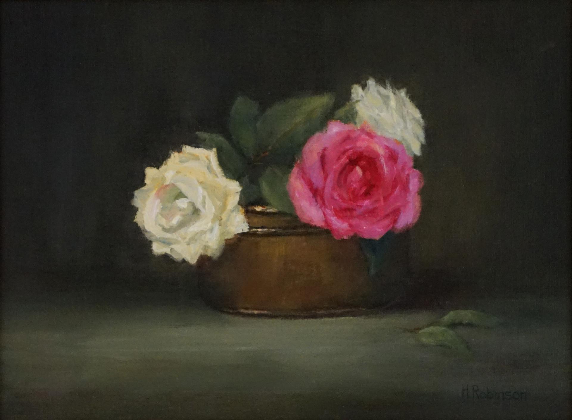 """""""Three Roses""""  9 x 12  oil"""