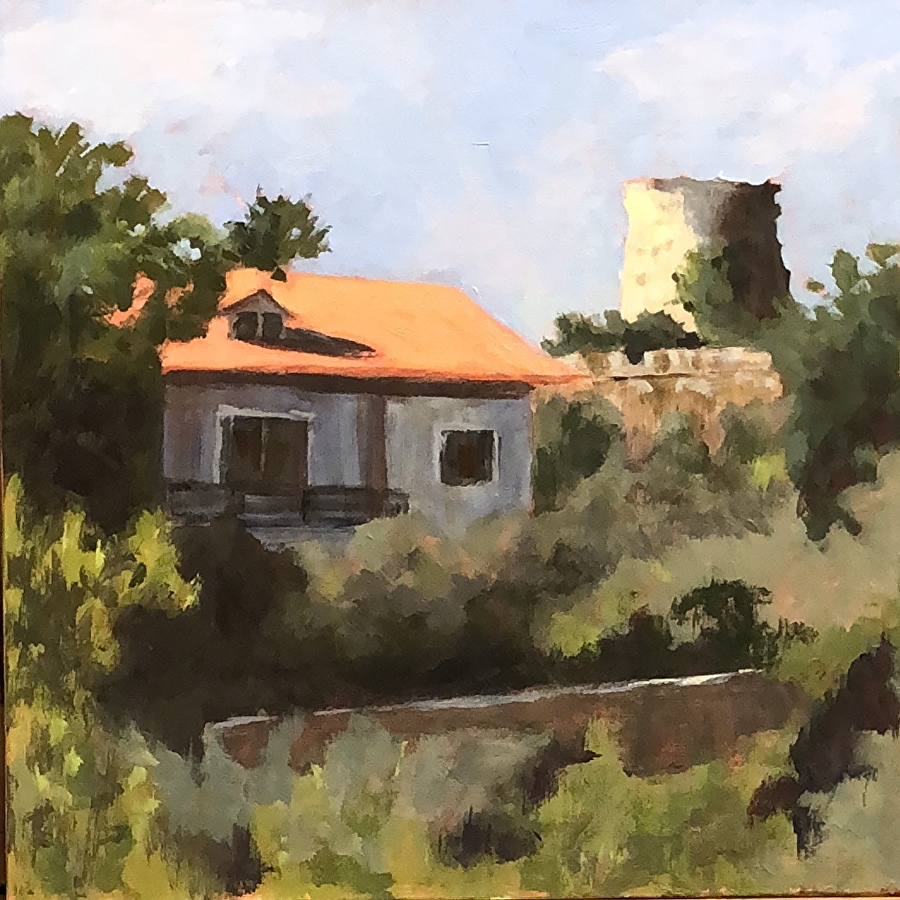 View from Luciagno  12 x 12 oil