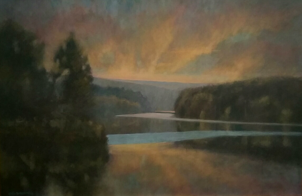 Spring Lake 24 x 36  acrylic