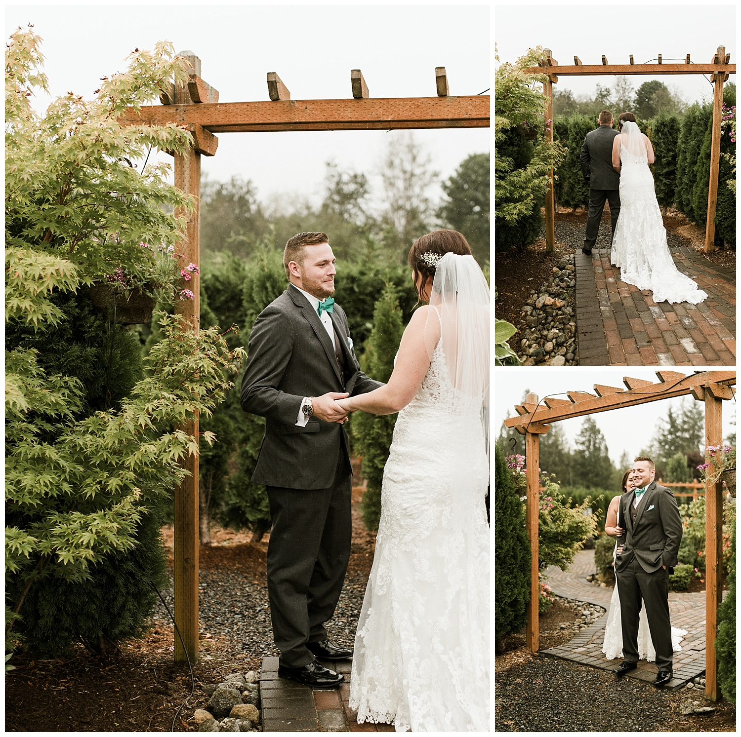 Rustic Chic Wedding | wedding day first look ideas | PNW wedding photographer
