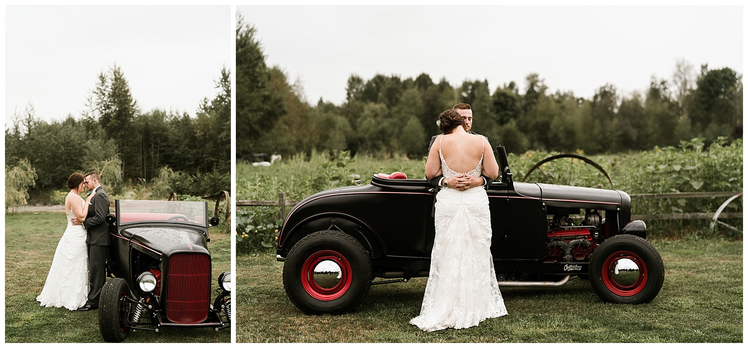 Rustic Chic Wedding | Bride and Groom Portraits | PNW wedding photographer