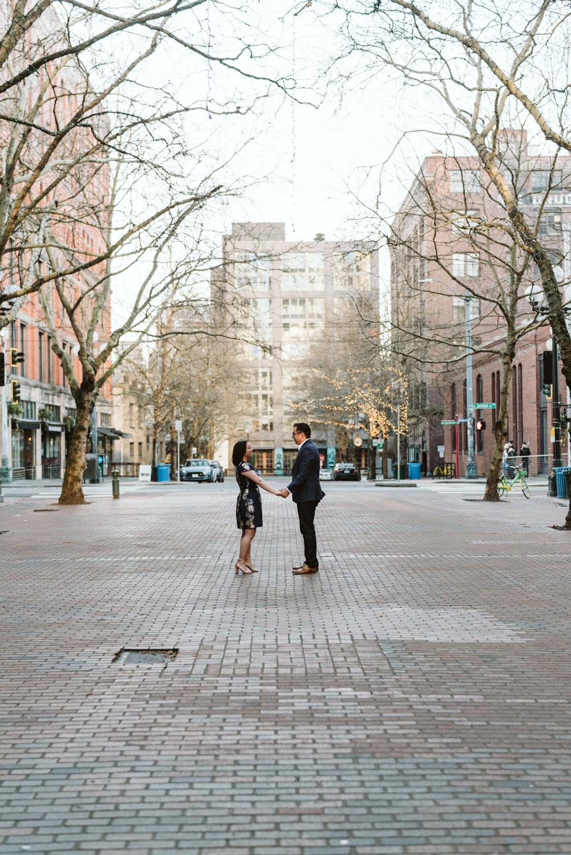 Classy metropolitan engagement session - Seattle pioneer square - Wedding Photography-10.jpg