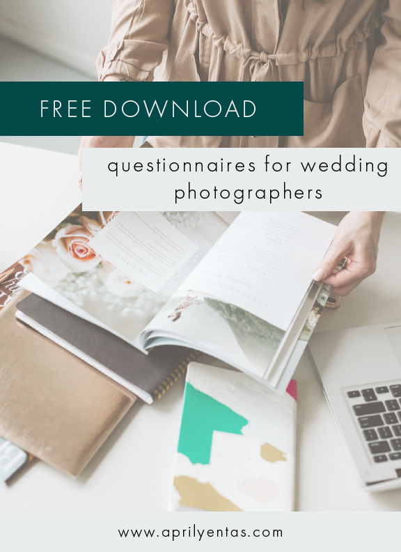 free resources for wedding photographers | questionnaires for wedding photogaphers
