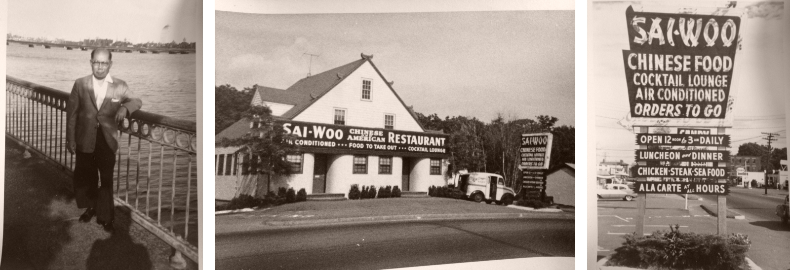 The Wang sisters' grandfather and his restaurant in Weymouth, Mass.