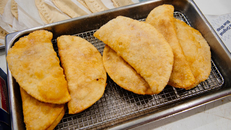 Fried Apple Jacks cooling off
