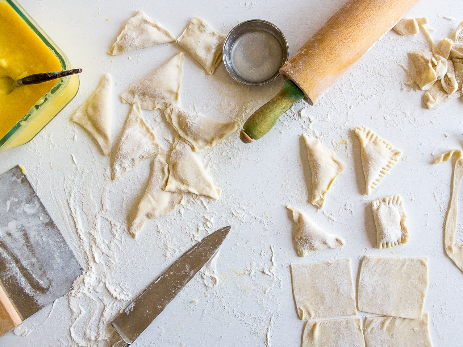 Puff Pastry Turnover Recipe with Whole Lemon Curd