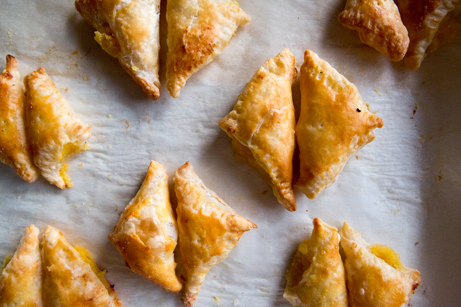 Lazy Mary Turnovers with Whole Lemon Curd