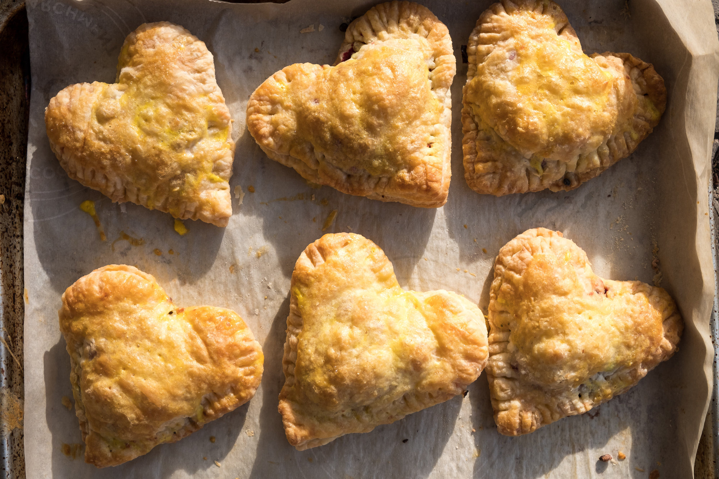 Heart-Shaped Hand Pies for Valentine's Day