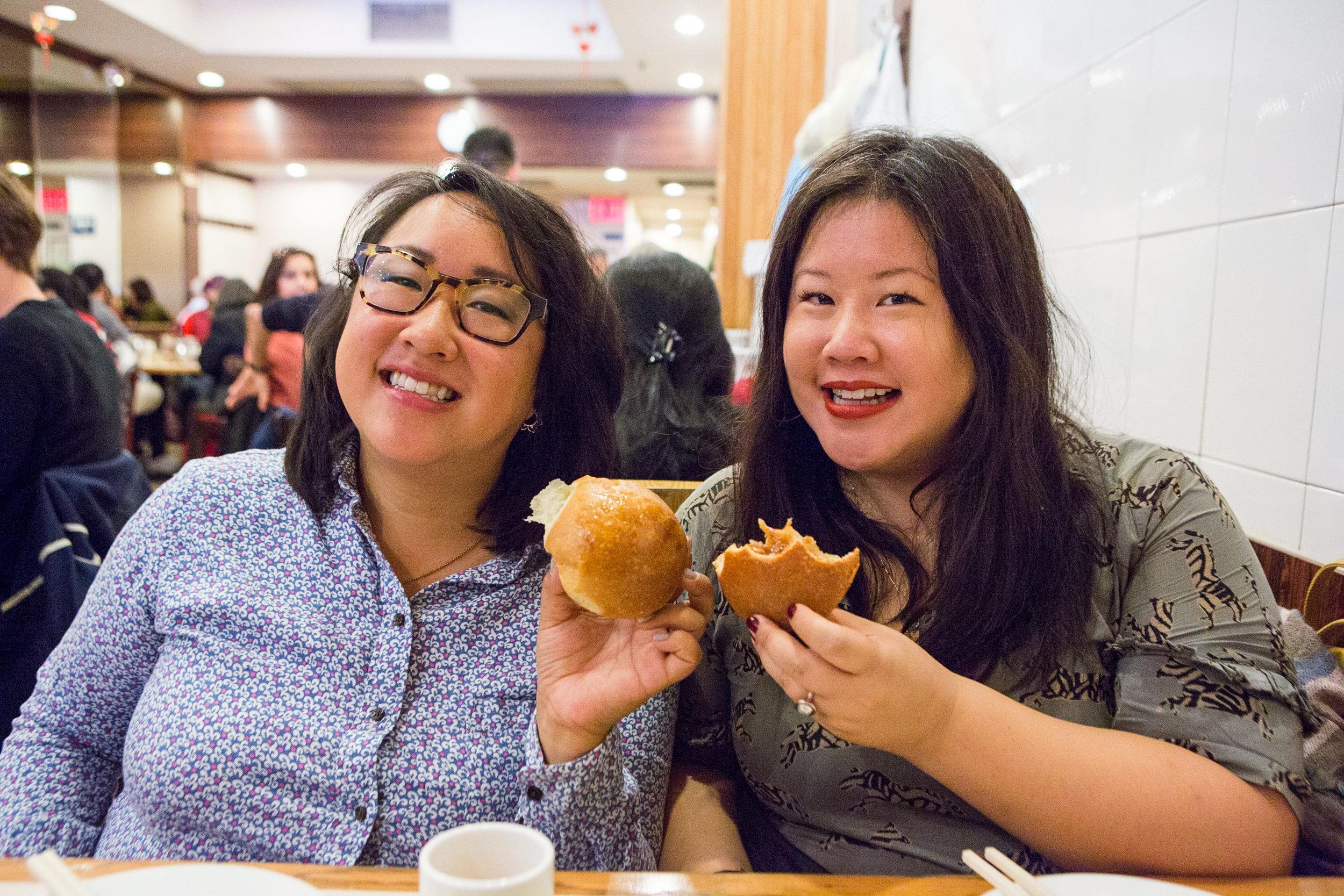 Las Hermanas Wang at Hop Shing in Chinatown, NYC