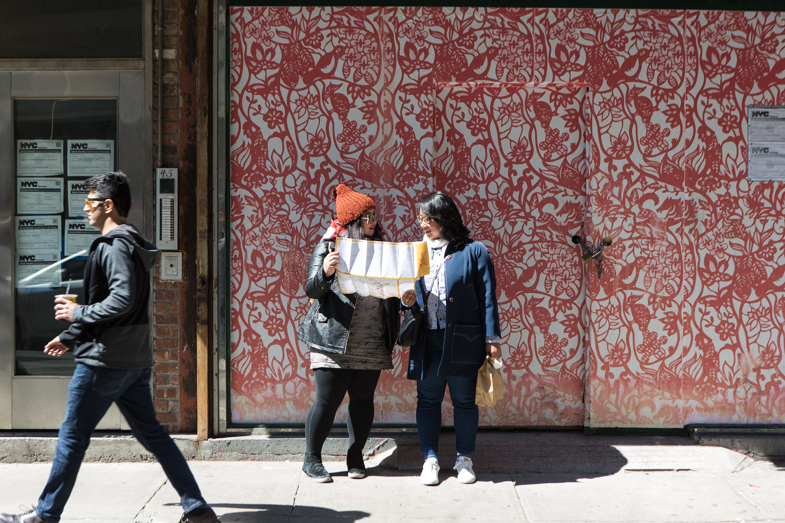 Click here to read more about Charlene and Tiffany and their handheld map of Manhattan's Chinatown.