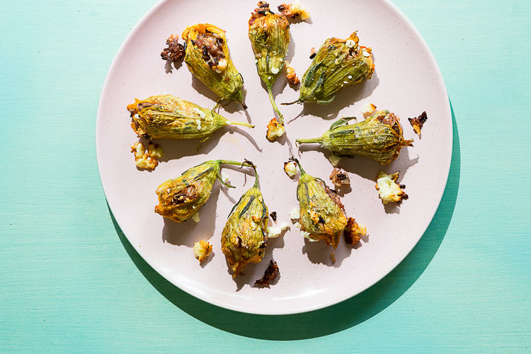 The World In A Pocket's Best of 2018, Stuffed Squash Blossoms, Photo by Mackenzie Smith Kelley