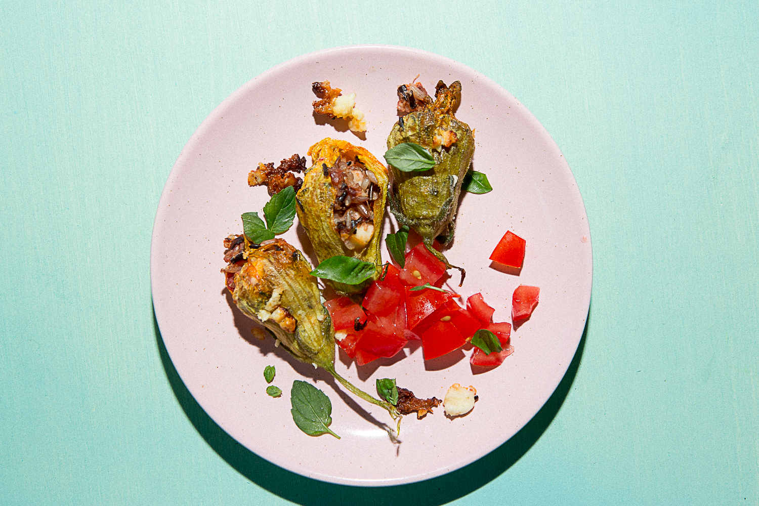 Cretan Stuffed Squash Blossoms