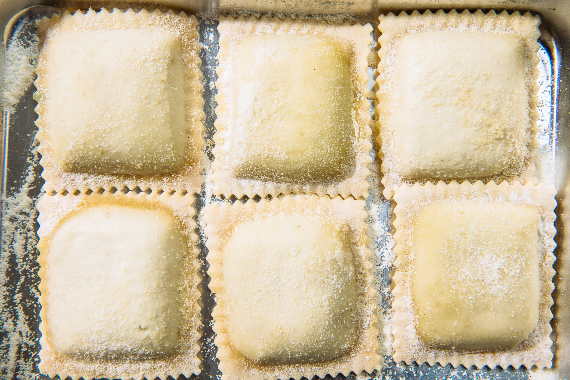 Spring Vegetable & Goat Cheese Ravioli © The World In A Pocket