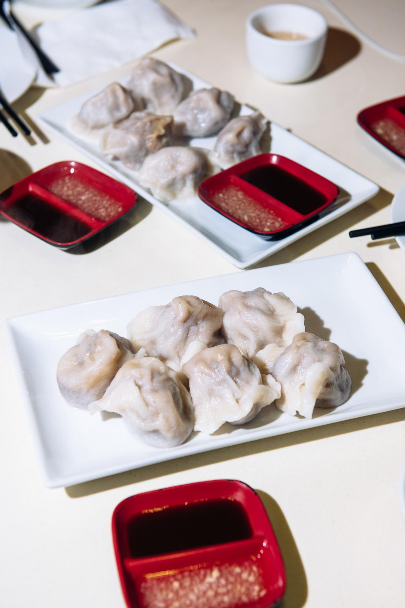 Lamb and duck dumplings at Dumpling Galaxy in Flushing, Queens