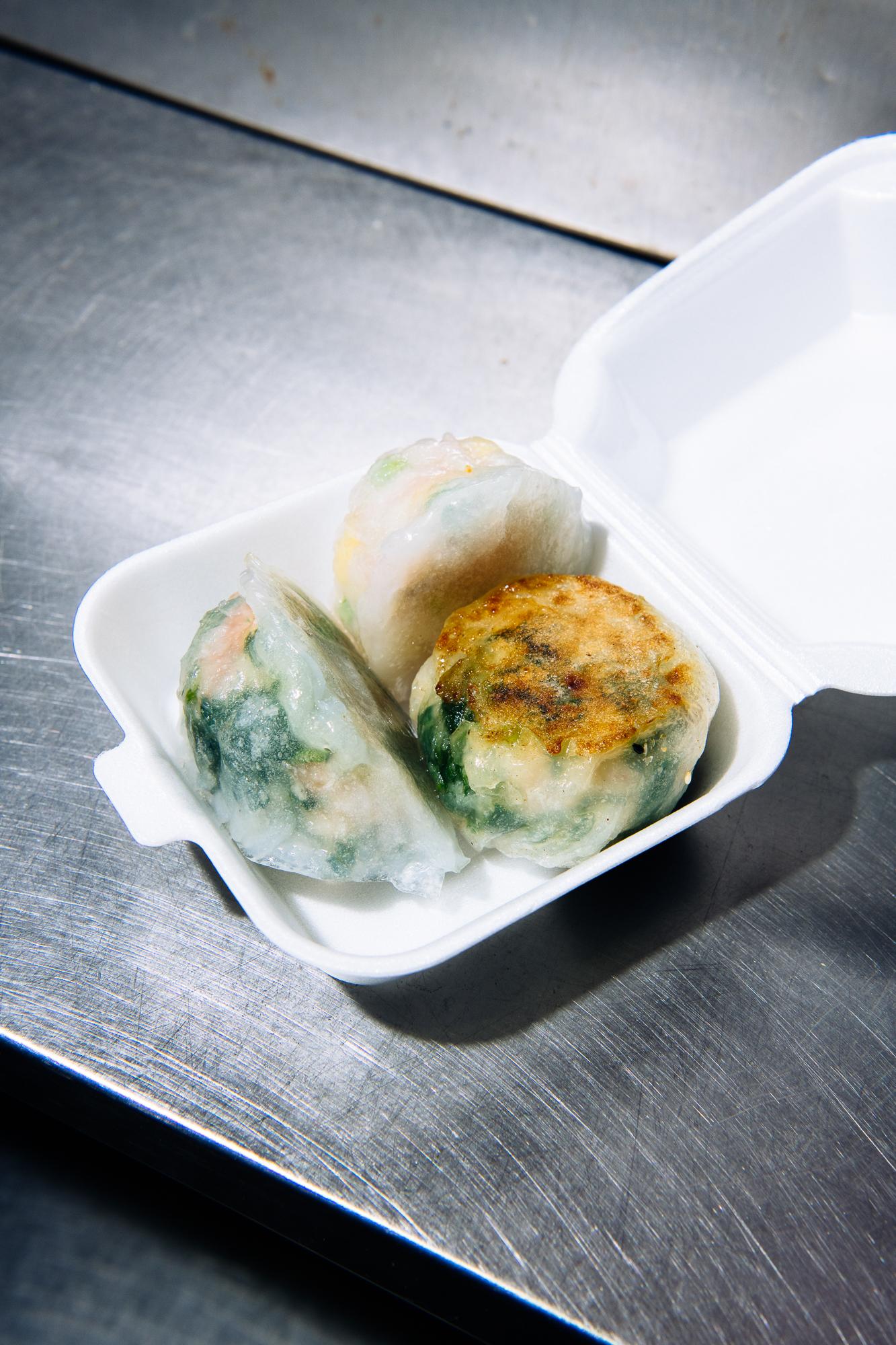 Crystal dumplings at Corner 28 in Flushing, Queens