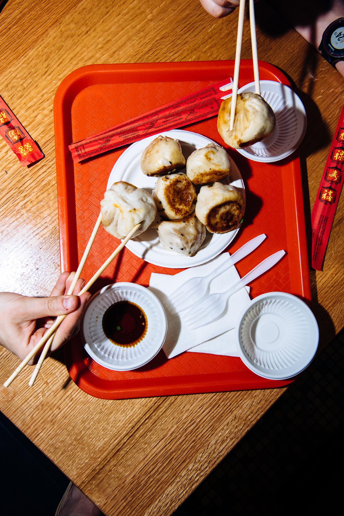 Sheng jian bao at Lao Jie Food at Queens Crossing in Flushing, Queens