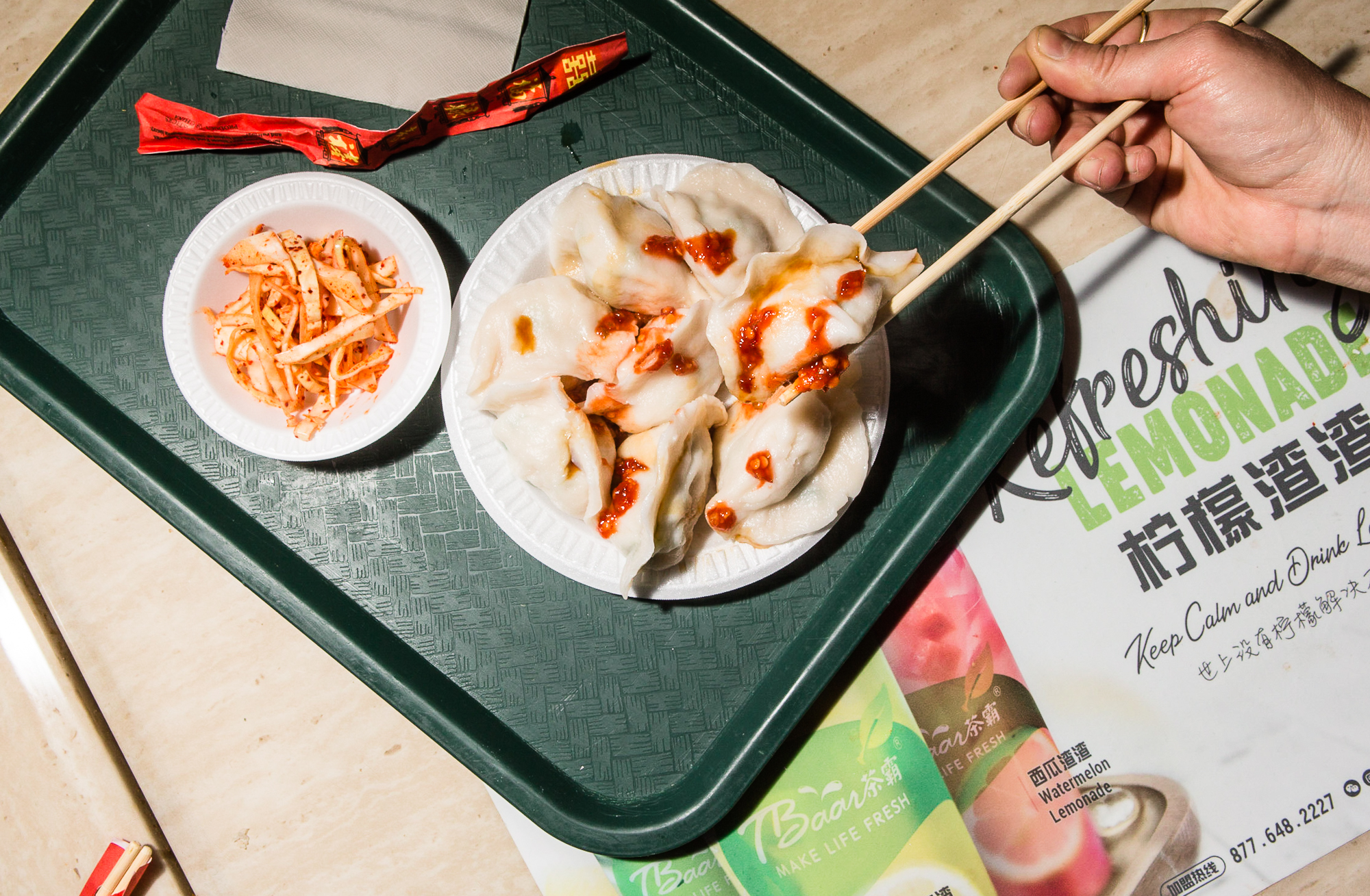 Fish Dumplings at New World Mall: Fish Dumpling in Flushing, Queens