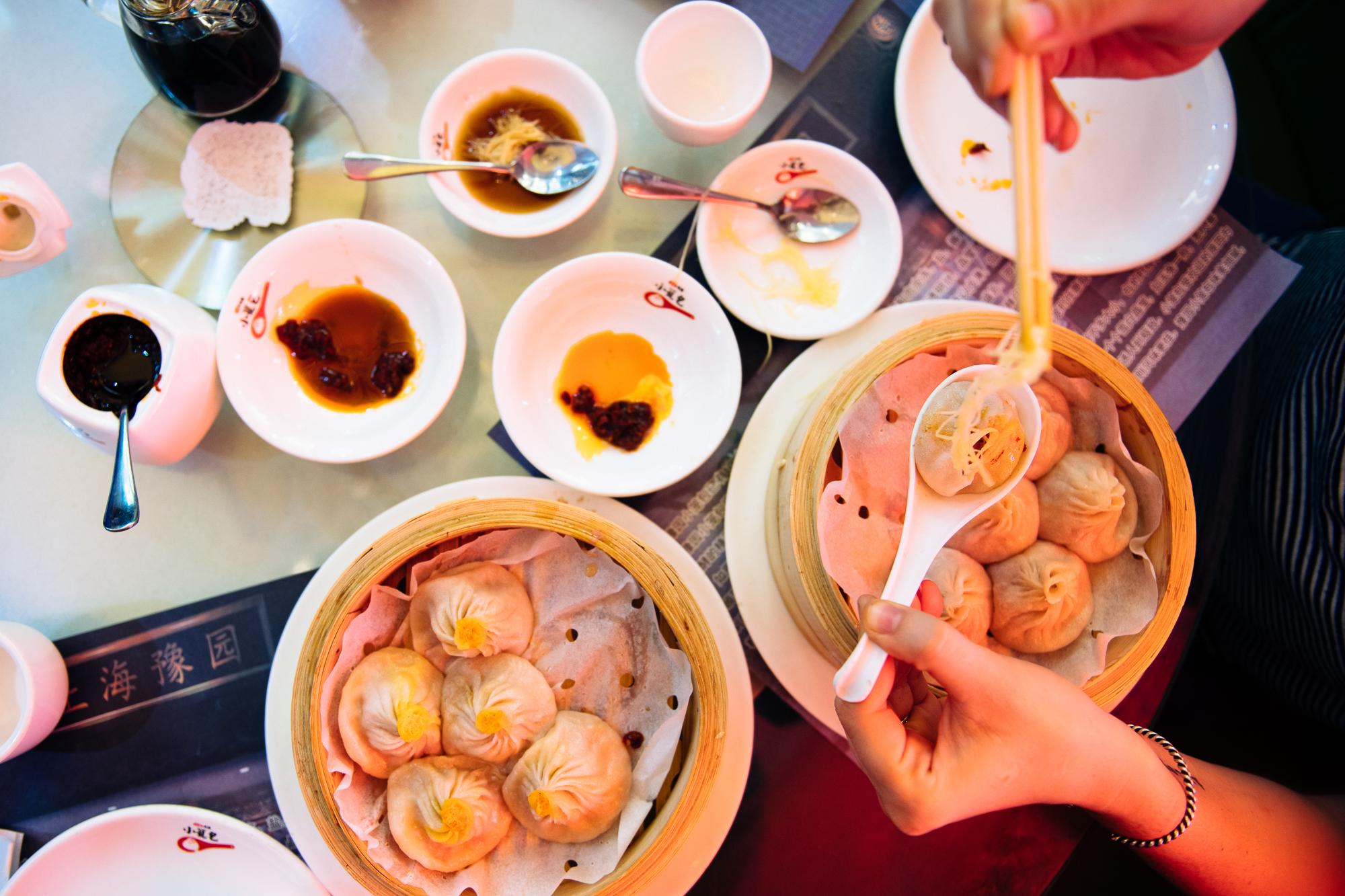 Xiao long bao (soup dumplings) at Shanghai You Garden Dumpling House in Flushing, Queens