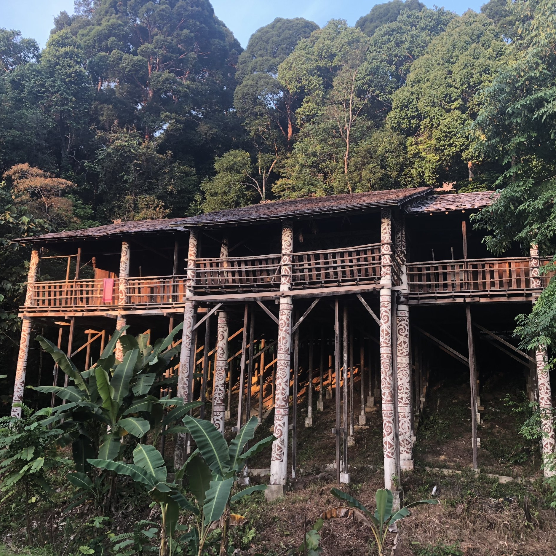 Enjoying the serenity in the 'Orang Ulu' Longhouse.