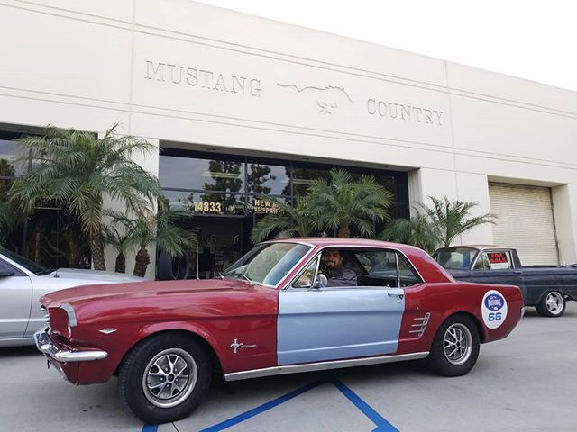 Loyal customer @chefgarcia came by yesterday in his coupe to purchase a few parts. He is also an active participant of the @socalmustangs rallys. #mustang #mustangwheels #mustangupholstery #mustangparts #shelby #gt350 #mustangs4life #mustangcountryinternational