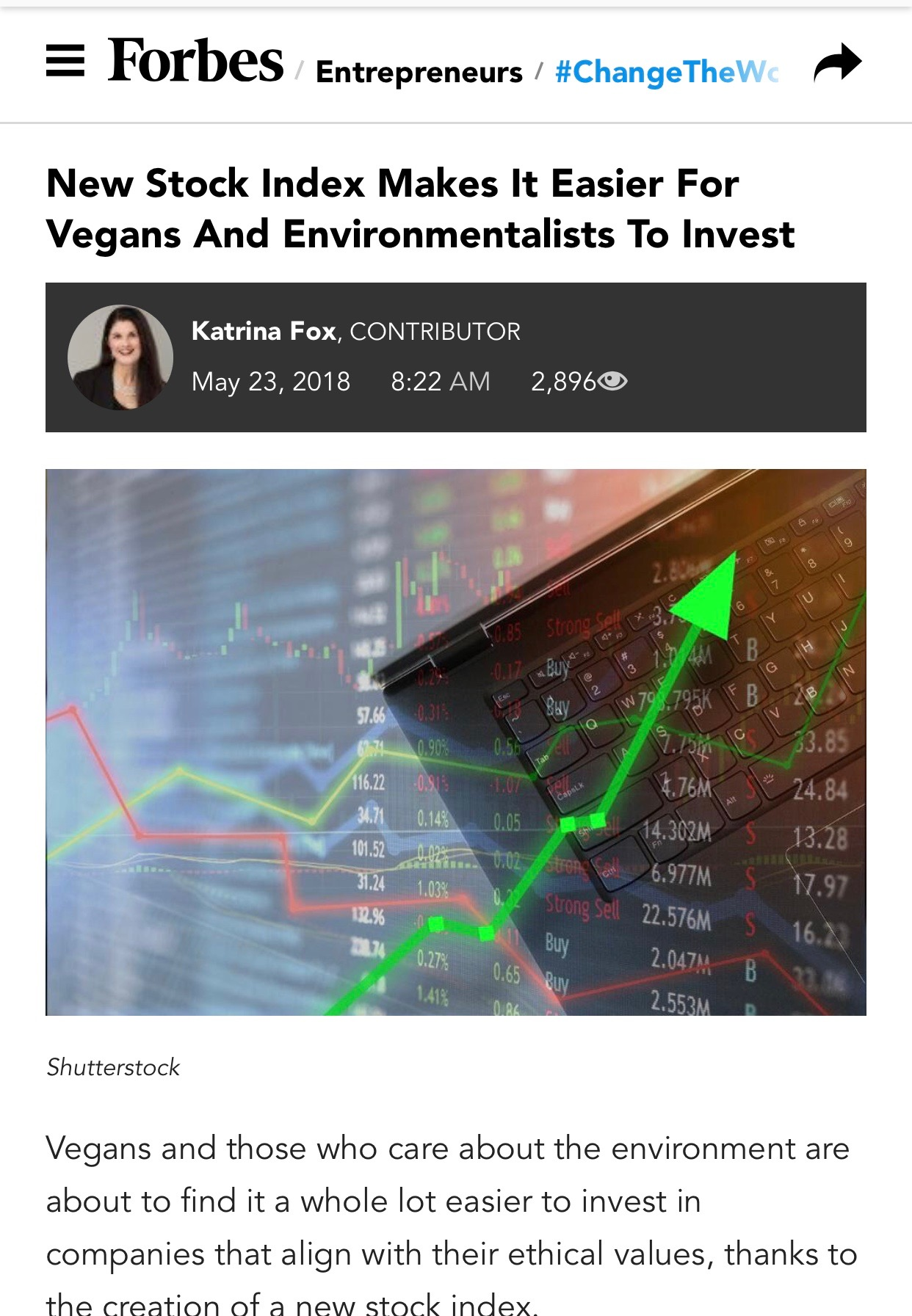 Vegan Stock Index