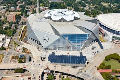 Mercedez-Benz Stadium, Atlanta, Home of the 2019 Super Bowl