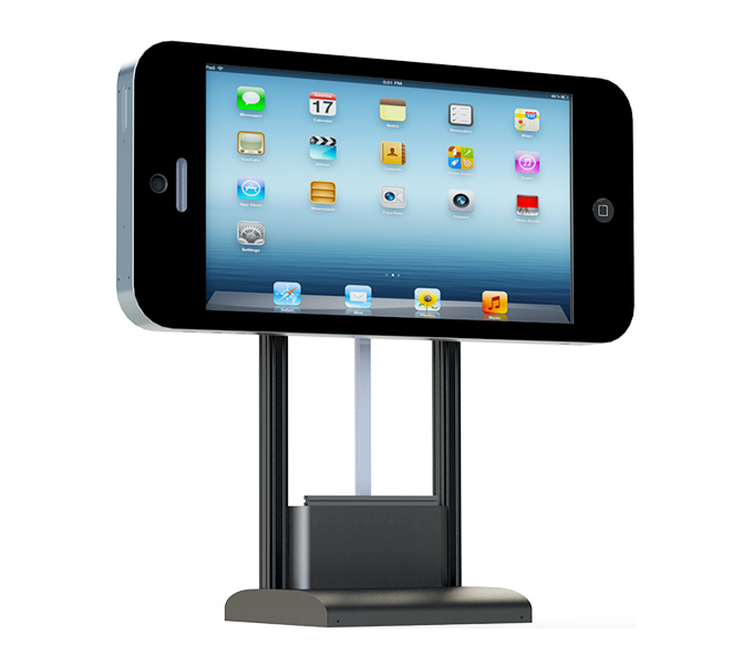 Giant iPhones - Giant iPhone screens are able to incorporate our AI digital signage software platform. It is possible to transform these giant iPhone screens into AI Talking Digital Signage.It is achieved by using voice recognition only to ask questions about any products or services as well as on demand view any images, videos or powerpoint presentations.