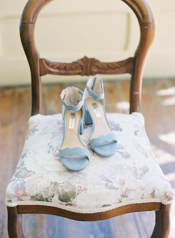 Halifax Wedding Photographer, Image of Blue Wedding Shoes, Captured on Film, Fuji400h, Nova Scotia Wedding Photographer, Jacqueline Anne Photography