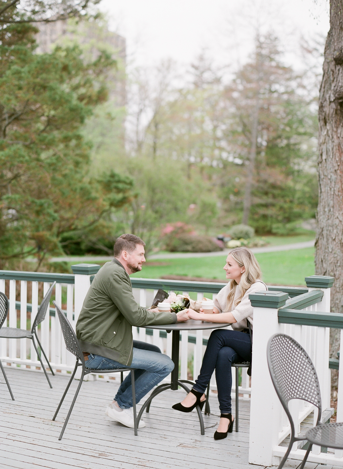 Halifax Engagement Session in Halifax Public Gardens captured on Film, Jacqueline Anne Photography